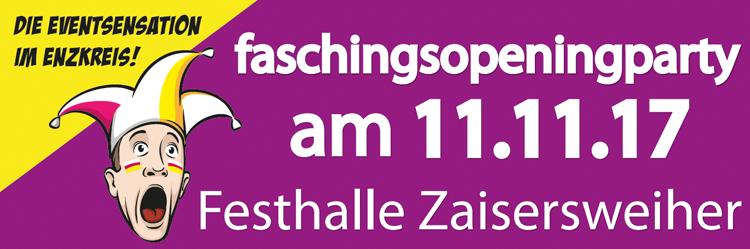 Faschingsparty 11.11.2017 Zaisersweiher